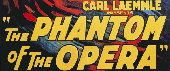 Il Fantasma dell'Opera: il primo mostro della Universal in locandina