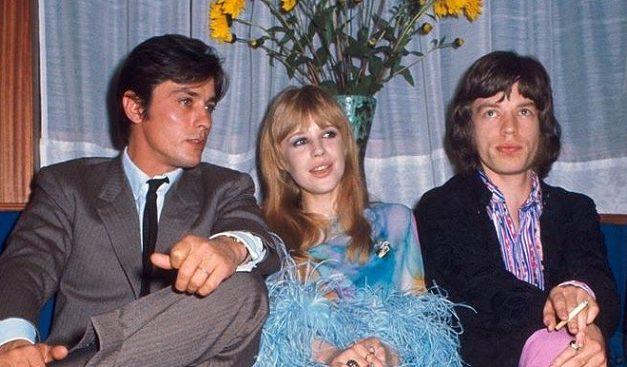 Alain Delon, Marianne Faithfull e Mick Jagger