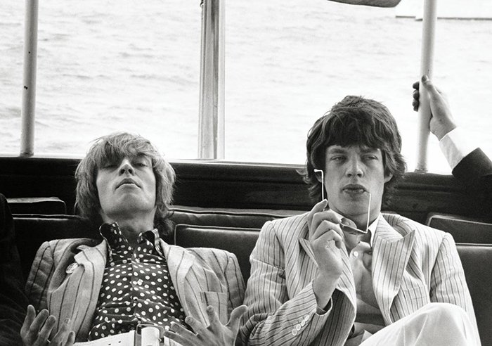 Brian Jones e Mick Jagger