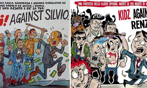"""OI! Against Silvio"" & ""Kidz Against Renzi"". Sempre contro! Quando i punks si incazzano."