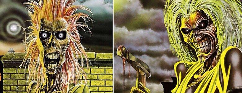 """Derek Riggs e i simboli ricorrenti nelle copertine degli Iron Maiden. """"Iron Maiden"""" e """"Killers"""""""