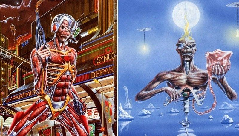 """Derek Riggs e i simboli ricorrenti nelle copertine degli Iron Maiden. """"Somewhere in Time"""" e """"Seventh Son Of A Seventh Son"""""""