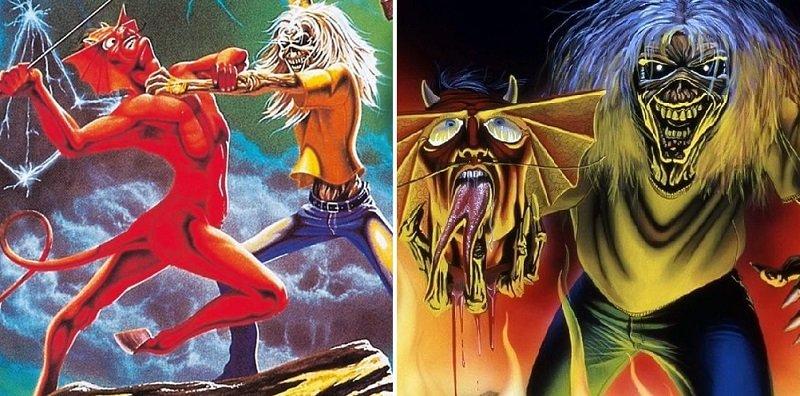 """La storia di Eddie the Head nelle copertine dei singoli degli Iron Maiden: """"Run to the Hills"""" e """"The Number of the Beast"""""""