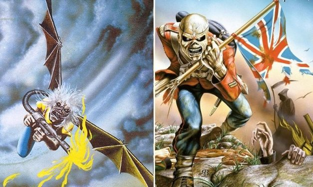 "La storia di Eddie the Head nelle copertine dei singoli degli Iron Maiden: ""Flight of Icarus"" e ""The Trooper"""