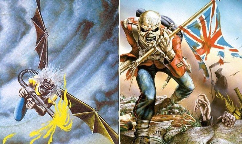 """La storia di Eddie the Head nelle copertine dei singoli degli Iron Maiden: """"Flight of Icarus"""" e """"The Trooper"""""""