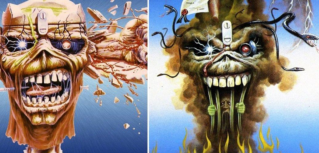 """La storia di Eddie the Head nelle copertine dei singoli degli Iron Maiden: """"Can I Play With Madness"""" e """"The Evil That Men Do"""""""