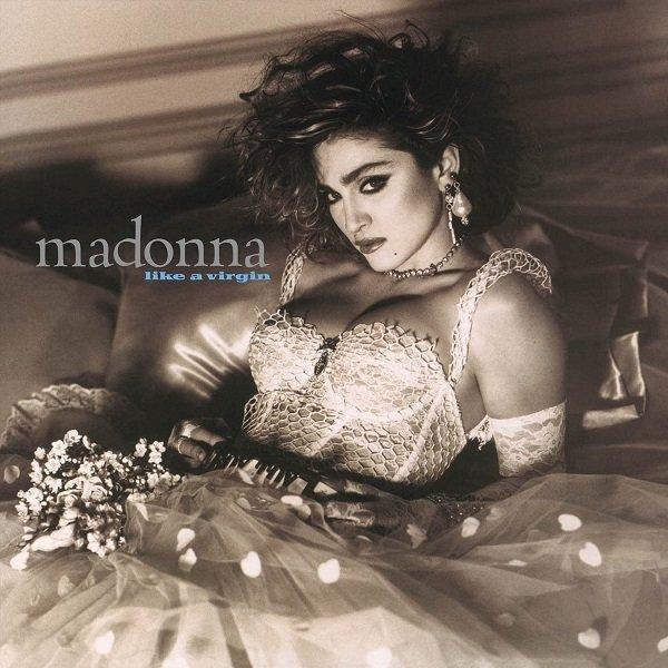 """La copertina di """"Like A Virgin"""": una Madonna tra sacro ed il profano in una sola immagine."""