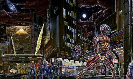 """La vita degli Iron Maiden nell'artwork di """"Somewhere In Time"""" disegnato da Derek Riggs: i riferimenti alle performances live"""