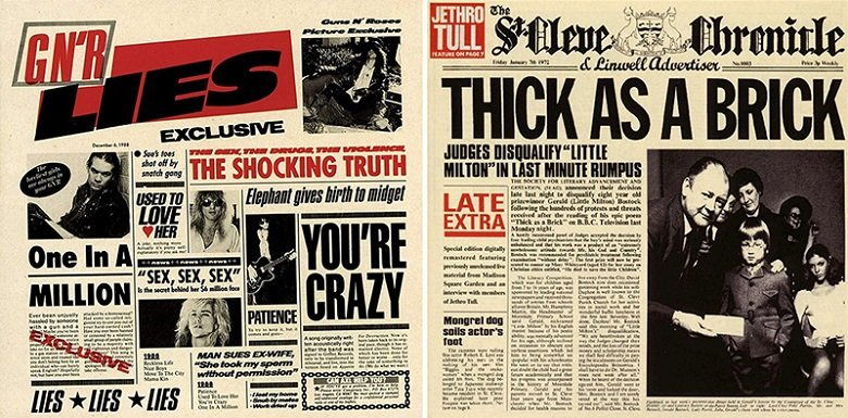 Similitudini: Guns n' Roses – Jethro Tull