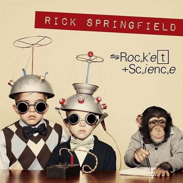 """Ecco la scienza vista in chiave ironica da Rick Springfield nella copertina di """"Rocket Science"""""""